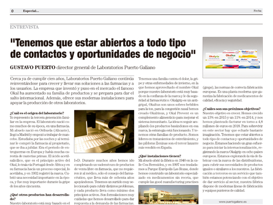 """El País"" newspaper interview with Gustavo Puerto"
